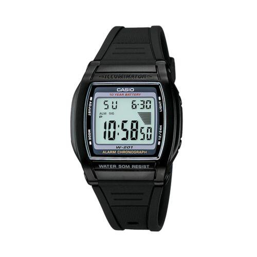 Casio Watch - Men's Black Resin Digital Chronograph