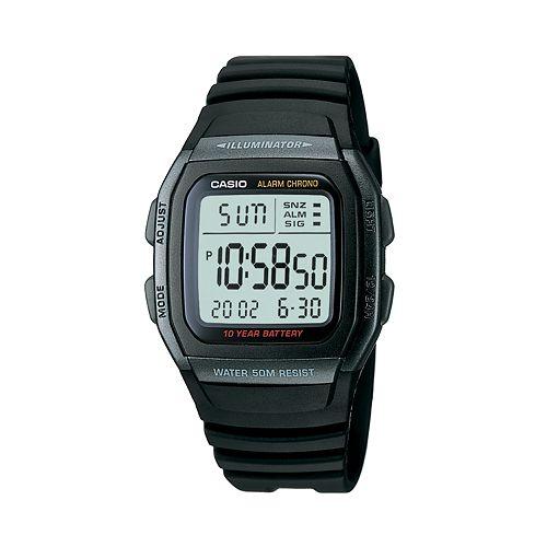 Casio Men's Illuminator Sport Digital Chronograph Watch - W96H-1BV