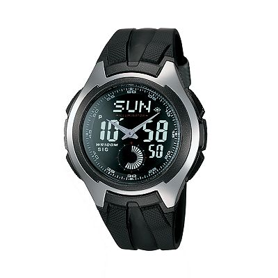 Casio Stainless Steel Chronograph Analog and Digital Sports Watch - Men