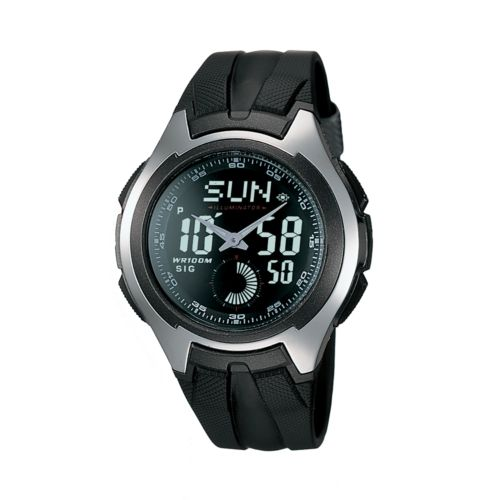 Casio Watch - Men's Black Resin Analog and Digital Chronograph Sport
