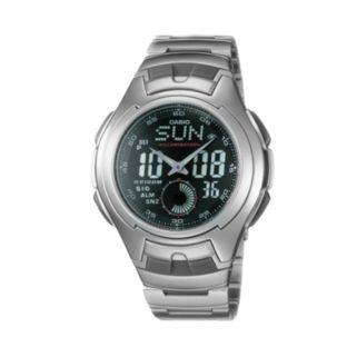 Casio Men's Illuminator Sport Stainless Steel Analog & Digital Chronograph Watch - AQ160WD-1BV