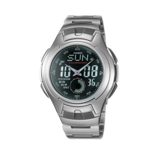 Casio Illuminator Stainless Steel Chronograph Analog and Digital Sports Watch - Men