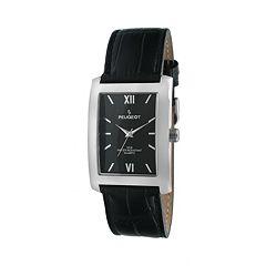 Peugeot Men's Leather Watch - 2033BK