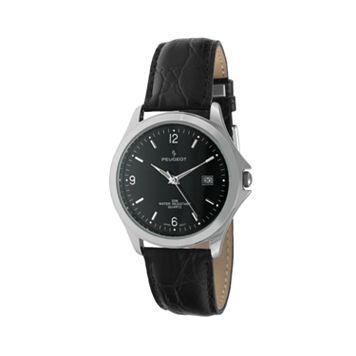 Peugeot Men's Leather Watch - 296BK