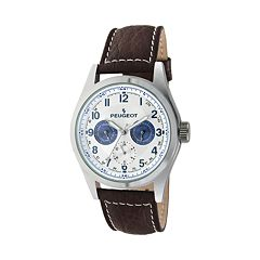 Peugeot Men's Leather Watch - 2028
