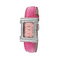 Peugeot Women's Crystal Leather Watch - 344PK