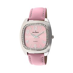 Peugeot Women's Crystal Leather Watch - 310PK