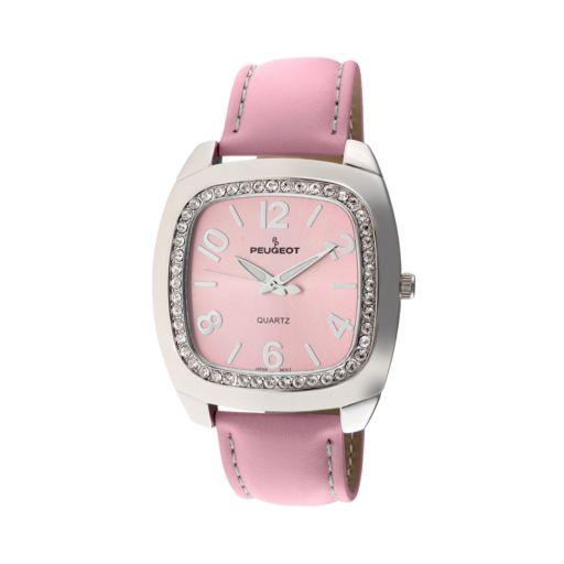 Peugeot Women's Crystal Leather Watch - 310PK