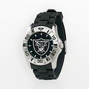 Game Time Oakland Raiders Silver-Tone MVP Watch - Men
