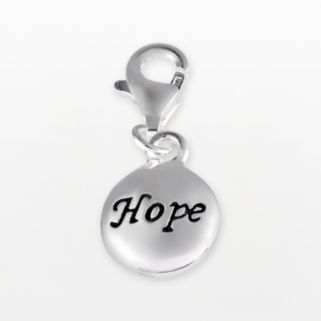 Personal Charm Sterling Silver Hope Charm