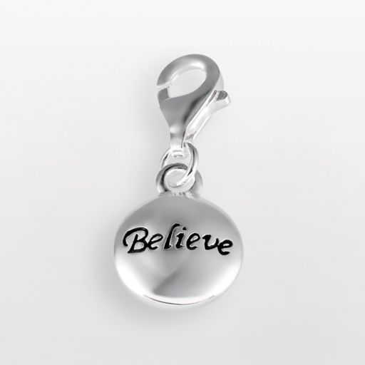 Personal Charm Sterling Silver Believe Charm