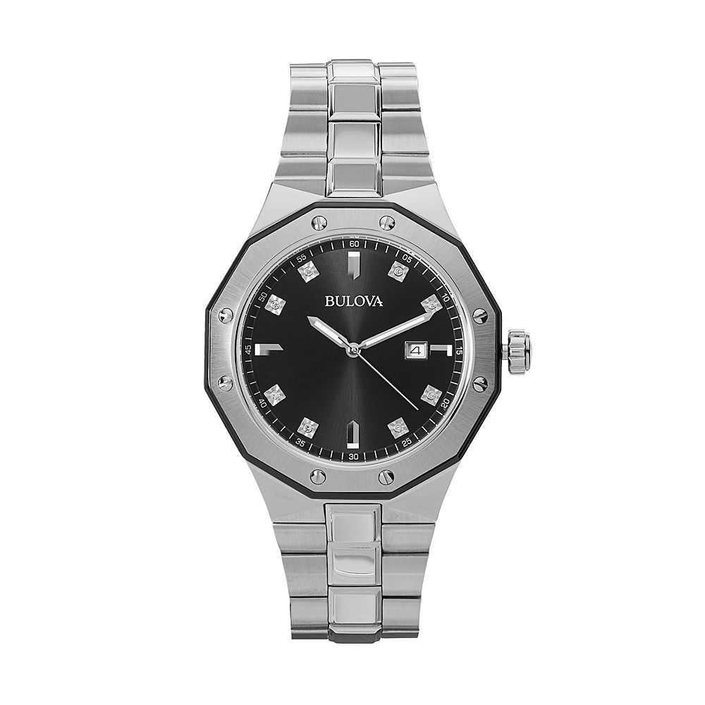 071275d81b3 Bulova Men s Marine Star Diamond Stainless Steel Watch - 98D103