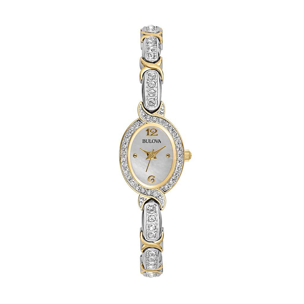 Bulova Women's Crystal Two Tone Watch - 98L005K