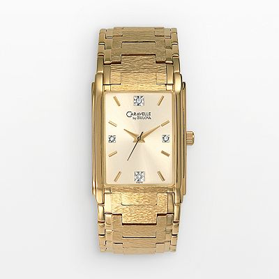 CARAVELLE by Bulova Gold Tone Diamond Accent Watch - Men