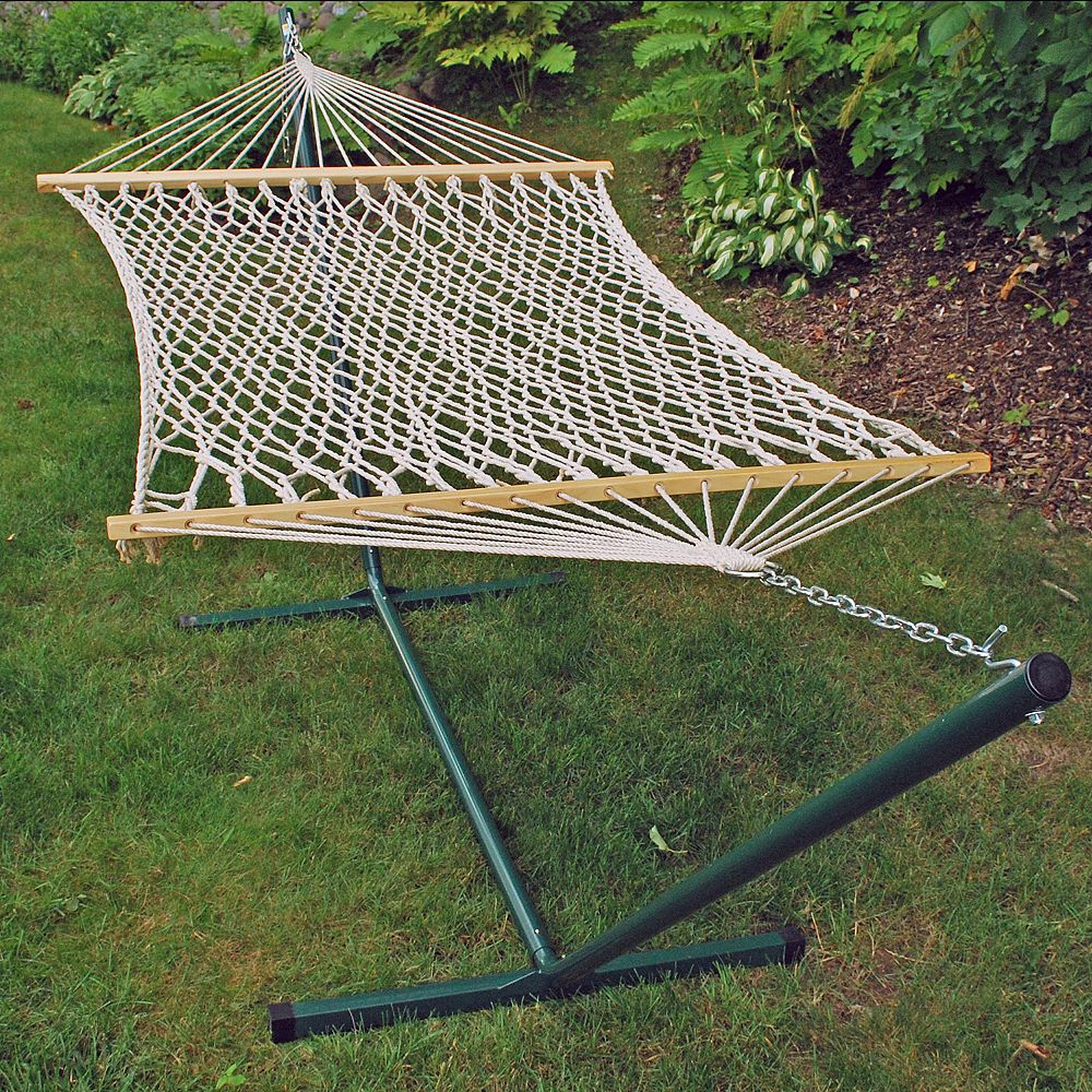 hammocks grand p standing with stand cayman free noble house ft quilted outdoor hammock