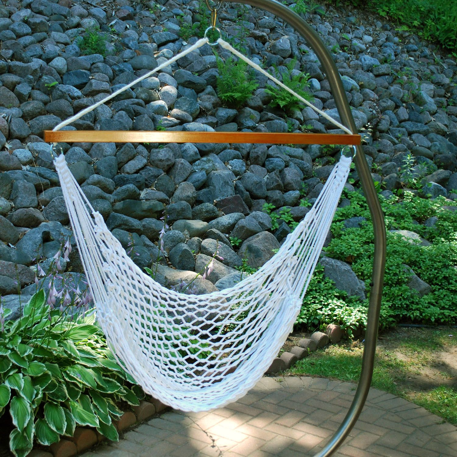 Algoma Hanging Rope Chair   Outdoor
