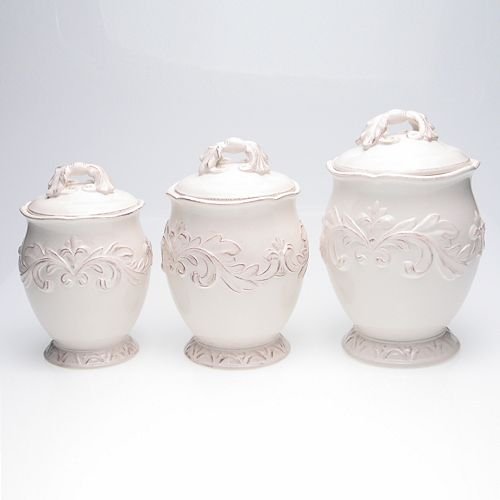 Certified International Firenze 3-pc. Ivory Kitchen Canister Set