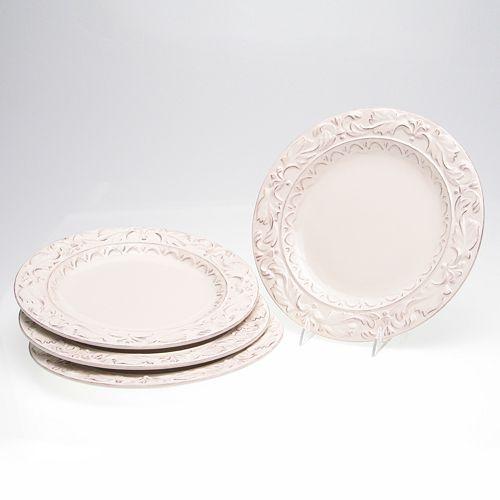 Certified International Firenze Ivory 4-pc. Dinner Plate Set