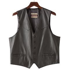 Men's Excelled Button-Front Leather Vest