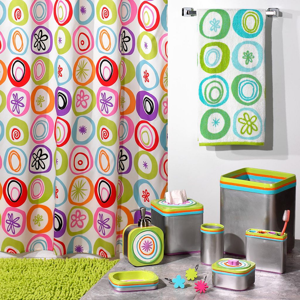 Creative Bath All That Jazz Fabric Shower Curtain