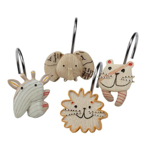 Creative Bath Animal Crackers 12-pk. Shower Curtain Hooks