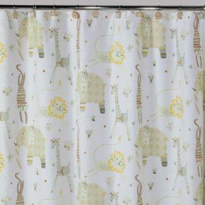 Creative Bath Animal Crackers Fabric Shower Curtain