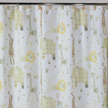 Creative Bath Animal Crackers Fabric Shower Curtain