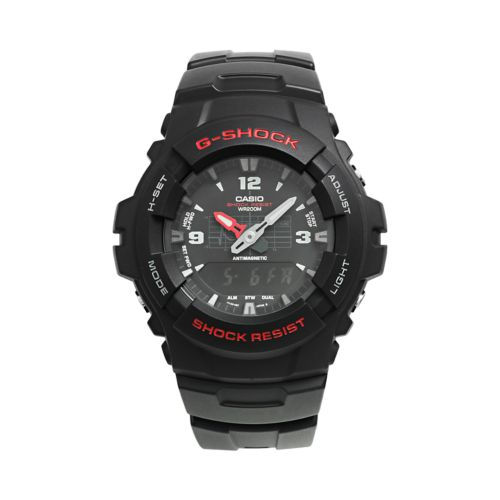 Casio Watch - Men's G-Shock Black Resin Analog and Digital Chronograph