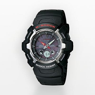 Casio G-Shock Tough Solar Stainless Steel Analog and Digital Atomic Watch - Men