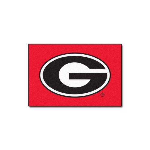 FANMATS Georgia Bulldogs Red Rug