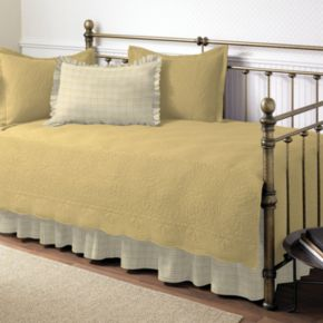 Trellis 5-pc. Floral and Plaid Daybed Quilt Set
