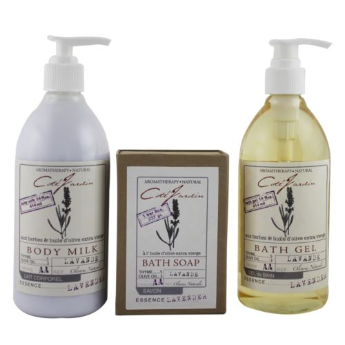 Olivia Care Cote Jardin Lavender Aromatherapy Bath Gift Set