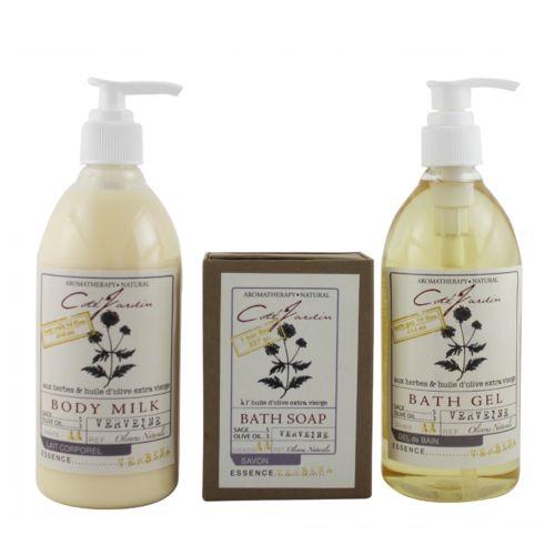 Olivia Care Cote Jardin Verbena Aromatherapy Bath Gift Set