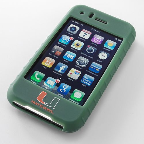 Ifanatic Miami Hurricanes Iphone 3G/3Gs Gamefacez Silicone Case