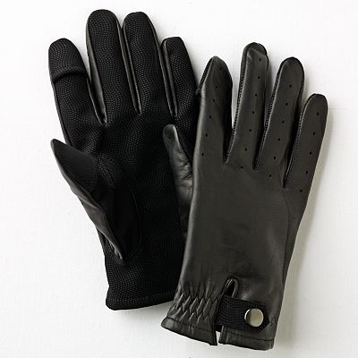 Dockers Texting Leather Gloves