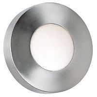 Burst Silver Finish Round Sconce