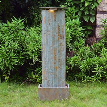 Waterwall Slate Floor Fountain - Outdoor