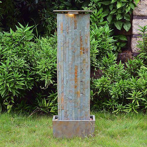 Waterwall Slate Floor Fountain - Outdoor