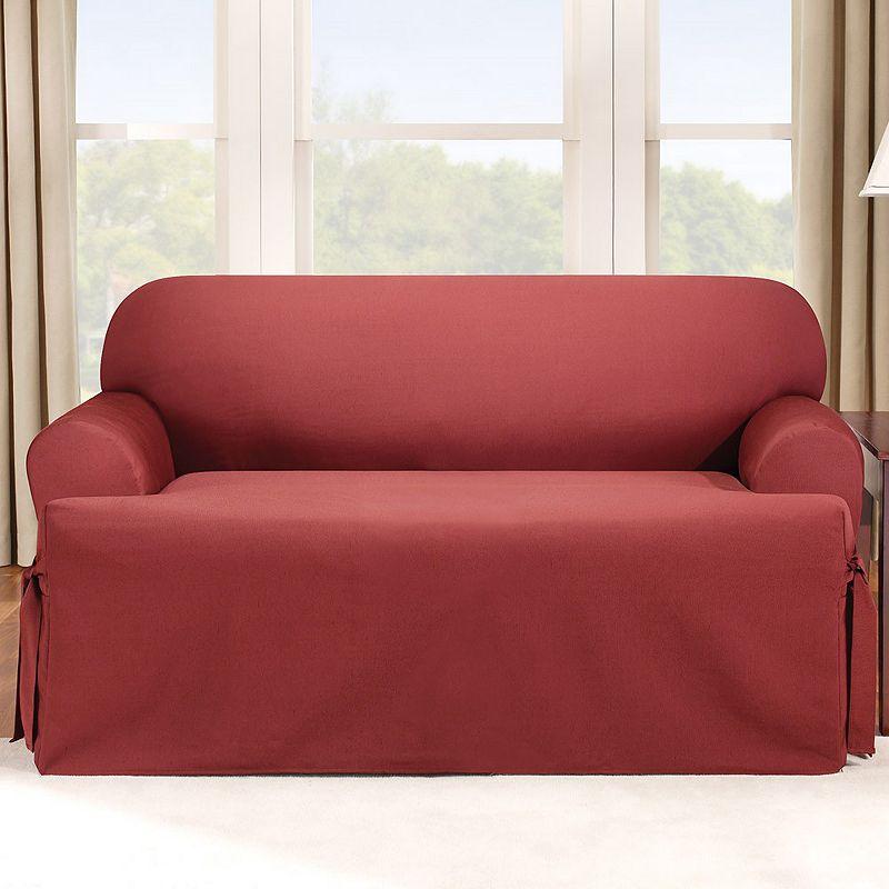 sure fit logan t cushion sofa slipcover