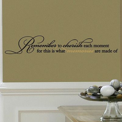 Cherish Each Moment Wall Sticker