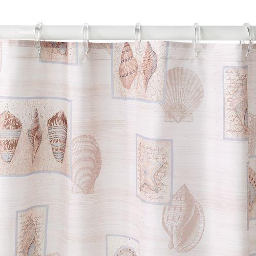 Sarasota Seashell Fabric Shower Curtain
