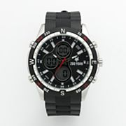 Zoo York Silver-Tone Analog and Digital Chronograph Watch - Men