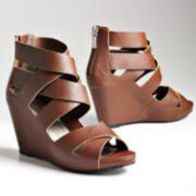 ELLE™ Libbie Peep-Toe Platform Wedges
