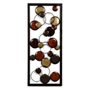 Rectangular Bunches of Circles Wall Decor