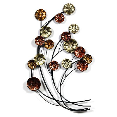 Metallic Flowers Wall Decor