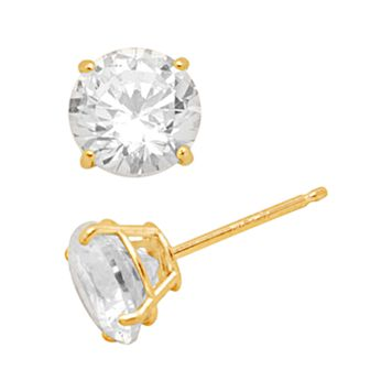 Renaissance Collection 10k Gold 1-ct. T.W.Stud Earrings - Made with Swarovski Zirconia