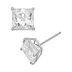 Renaissance Collection 10k White Gold 1-ct. T.W. Stud Earrings - Made with Swarovski Zirconia