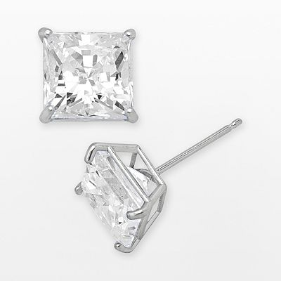 Renaissance Collection 10k White Gold 2-ct. T.W. Cubic Zirconia Stud Earrings