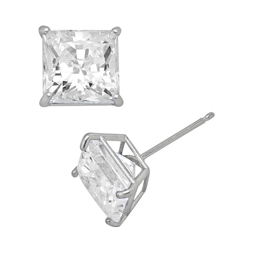 Renaissance Collection 10k White Gold 3-ct. T.W. Stud Earrings - Made with Swarovski Zirconia