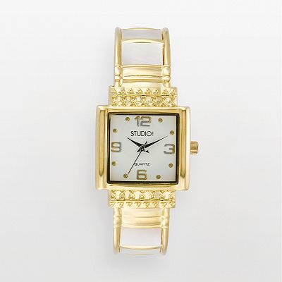 Studio Time Gold Tone Bangle Watch - Women